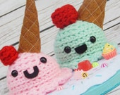 Amigurumi Ice Cream Sugary Scoops