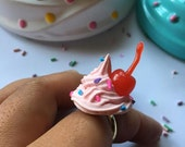 Strawberry Sprinkled Wipped  Cream ring