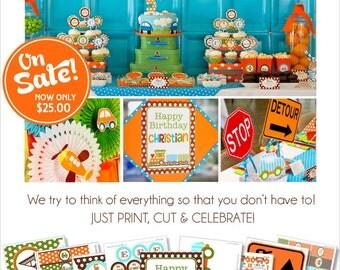 Transportation Party Printable | Transportation Birthday Decorations | Car Train Birthday | Plane Birthday Party | Amanda's Parties To Go
