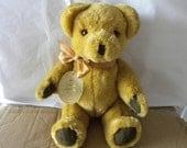Vintage Bear - Real Soft Toys - Watford England - English Teddy - 1970's Toy - Mohair Bear - 12 inch Teddy