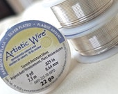 ONLY 1 LEFT 22 gauge Artistic Wire Non-tarnish silver beading wire, 8 yards, .64mm thick