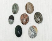 Gemstone Cabochon lot-7 Pieces- Old stock mix of jewelry supplies.