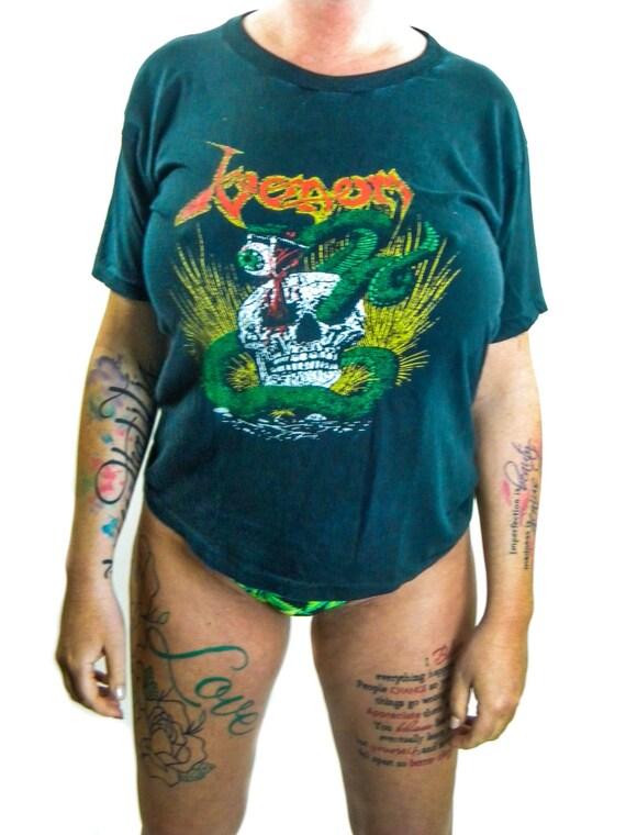 Vintage Venom Shirt 80s Heavy Metal Thrash 80s Tee 80s Shirt
