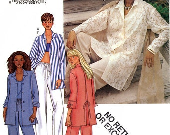Butterick 3531 Sewing Pattern for Misses' Shirt, Top and Pants - Uncut - Size 14-16-18 - Bust 36-38-40