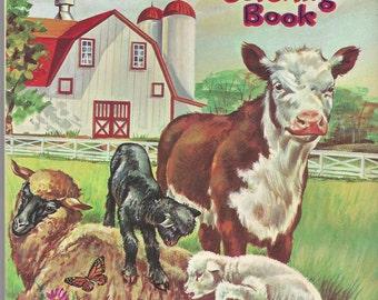 Farm Animals Vintage Coloring Book, C1955