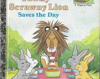 Tawny Scrawny Lion Saves the Day Little Golden Book Vintage Children's Book, C1989