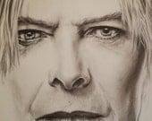 David Bowie artists print on canvas 14 x 14 wall art portrait