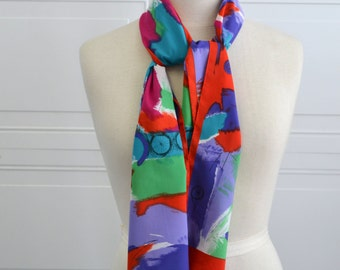 1980s Baar and Beards Abstract Scarf
