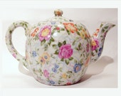 Antique Chintz Teapot Made in Occupied Japan
