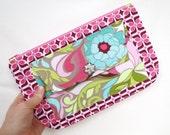 Zipper pouch, Pouch, clutch, zipper bag, makeup pouch, floral pouch