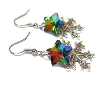 Snowflake Crystal Earrings