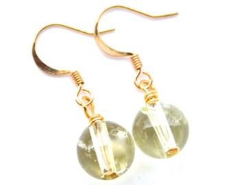 Citrine Gemstones . Earrings