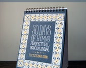 Set of 12 - 30 Days of Hymns Perpetual Desk Calendar