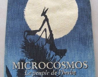 Vintage French Tapestry Hand Painted Microcosmos Le Peuple de l'Herbe Award Winning French Film 10 Available Separately