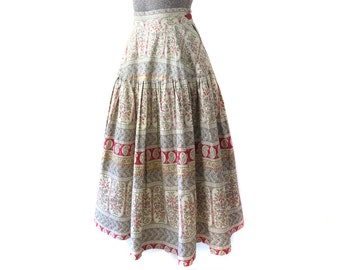 SALE - Early 50s Cotton Lawn Skirt, Size XS - 30% OFF