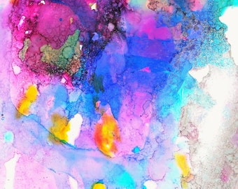 Expressionist Art, Alcohol Ink Painting, Abstract Art Print, Giclee Print, Boho Decor, Boho Wall Art, Alcohol Ink Print, Fantasy Art Work