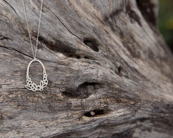 Ring of Leaves & Berries Necklace in Sterling Silver