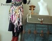 Bandana Scarf Knitting Pattern by Yospun Bulky Yarn Super Bulky Long Fringe