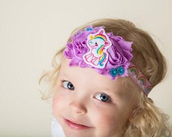 Baby girl unicorn headband - Unicorn hair clip - Unicorn headband - Unicorn party headband - Baby girl unicorn - Pink unicorn headband