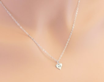 XO Heart Necklace Sterling Silver Hugs and Kisses Best Friends Birthdays Love