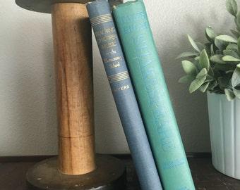 Antique//Vintage Large Wooden Spool - Heavy, great bookend or shelfie decor!