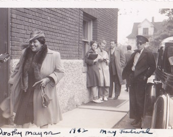 Dorothy Maynor- 1940s Vintage Photograph- African American Opera Singer- Original Photo- May Festival 1942- Music History- Paper Ephemera