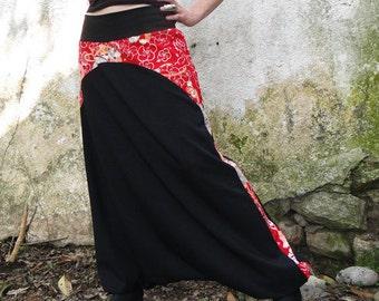 Japanese harem pants Sakura Rojo