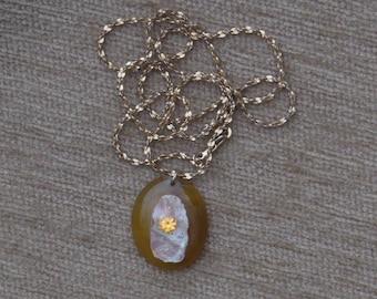 Sunshine Necklace with spesertite garnet