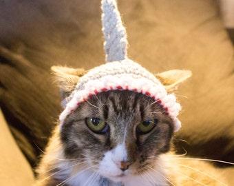 Shark Costume Hat for Cats, Ready To Ship, Crochet Cat Hat, Shark Accessories, Kitten Hat, Pet Clothes, Halloween Pet Costume, Shark Week