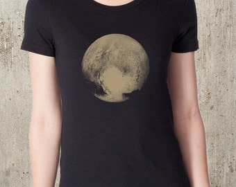 Women's Pluto T-Shirt - American Apparel Women's T-Shirt - Women's Small Through  2XL Available