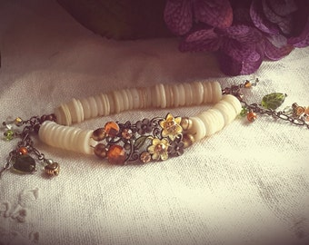 Enchanting Art Nouveau Style Armlet Bracelet