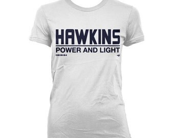 Stranger Things Hawkins Power and Light Employee WOMEN'S T-shirt by NIFTshirts