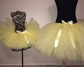 "Baby Maize (Baby Yellow) Bridal Tutu for waist up to 34 1/2"" great for Bridesmaids, Bachelorette parties, Mommy and me pictures"
