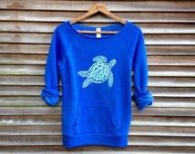 be still my Sea Turtle Sweatshirt, Turtle Sweater, Beach Top, S,M,L,XL,XXL