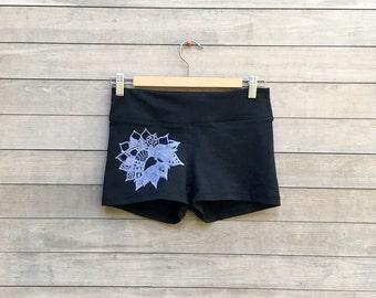 Lotus Hot Shorts, Yoga Shorts, Short Shorts, S,M,L