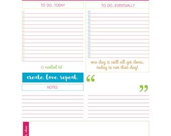 Daily Planner Printable - Hustle