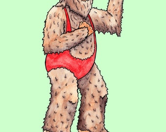 Big foot Believe Workout Print 8.5 x 11