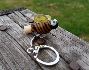 Bumble Bee Mini Bottle Keychain