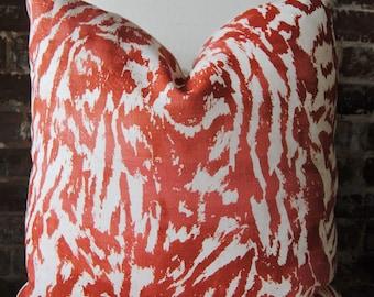 Feline Pillow Cover - Alizarin - decorator pillow - designer pillow