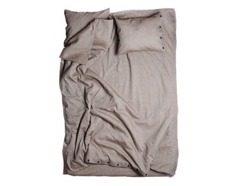 Brown duvet cover Linen cotton blend duvets in Queen King Double Full Twin or single size