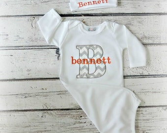 Newborn Baby Boy Clothes Personalized Baby Boy Take Home Outfit Mongrmmed Baby  Layette  Gift Set