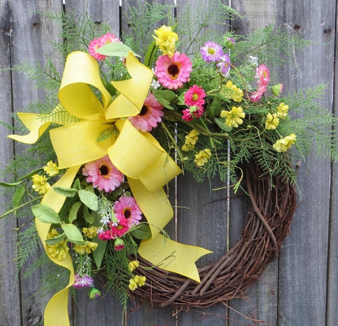 Wreath for Spring Spring Summer Wreath Spring Summer