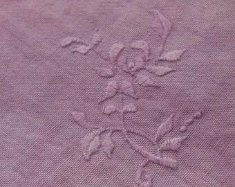 Napkins, Vintage, Three (3),  Purple,  Hand-Dyed, Table Linens