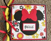 Disney Autograph Book - Minnie Mouse - Flowers - Chipboard