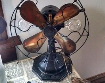 Steampunk industrial fan light arranged by Wendy