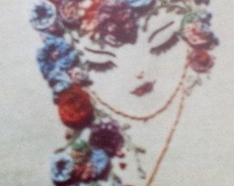 Bonnie McCauley A Stitch Above PRETTY LADY I - Brazilian Three Dimensionsl 3D Embroidery Pattern Printed On Fabric