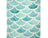 La Mer ocean themed bedroom decor wall tapestry, blue waves unique graduation gift dorm decoration, teal housewarming gift apartment decor