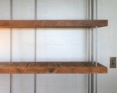 CUSTOM RESERVED for Marina - reclaimed shelving from roughsawn old growth wood and recycled content steel - bookcase - modern industrial