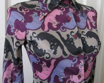 Purple Panther Blouse