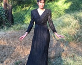 VTG George F Couture Fortuny Look Accordian Pleat Evening Gown Dress Sz 10 8 evening gown pleated dress fort